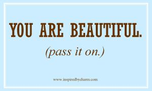 you are beautiful post